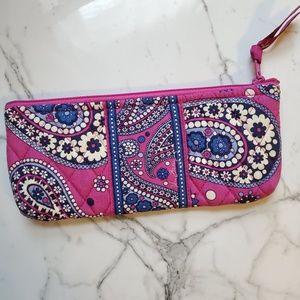 Vera Bradley Boysenberry Pencil Case / Makeup Bag